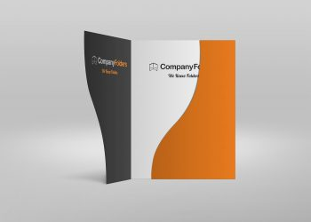 Serpentine Presentation Folder PSD Mockup