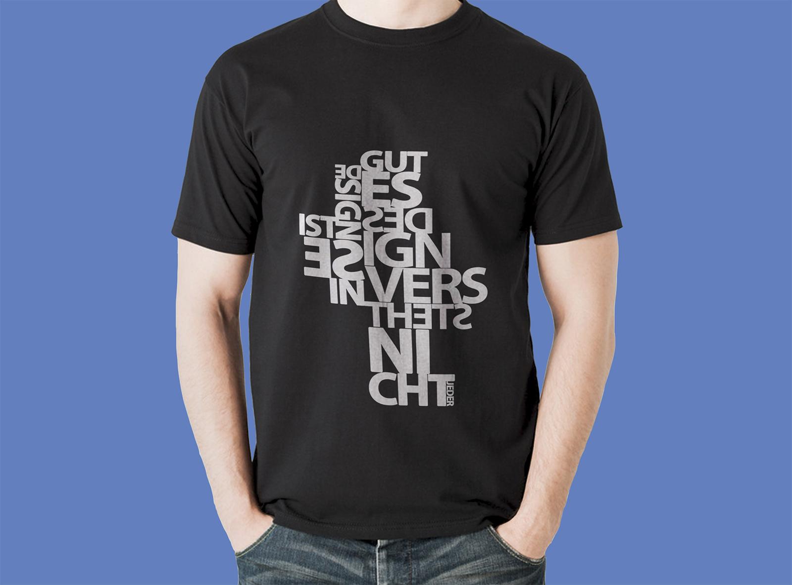 Free T-Shirt Design PSD Mockup