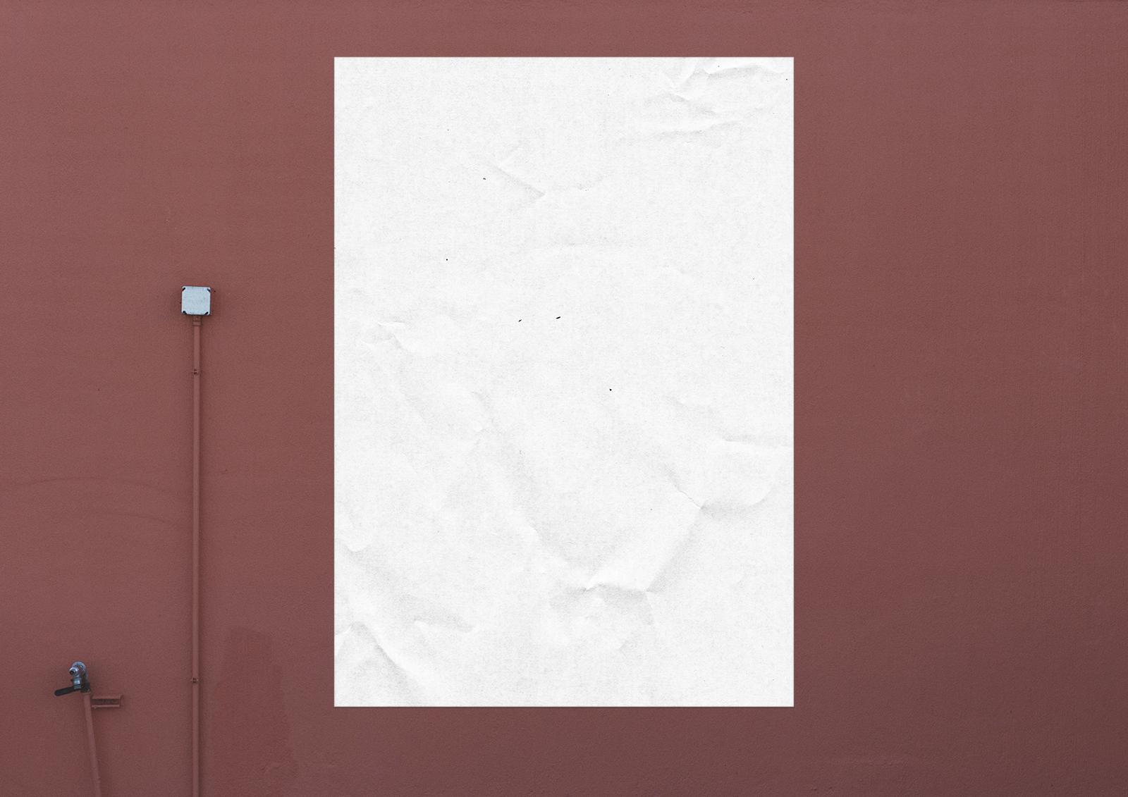 Wall Poster Mockup PSD