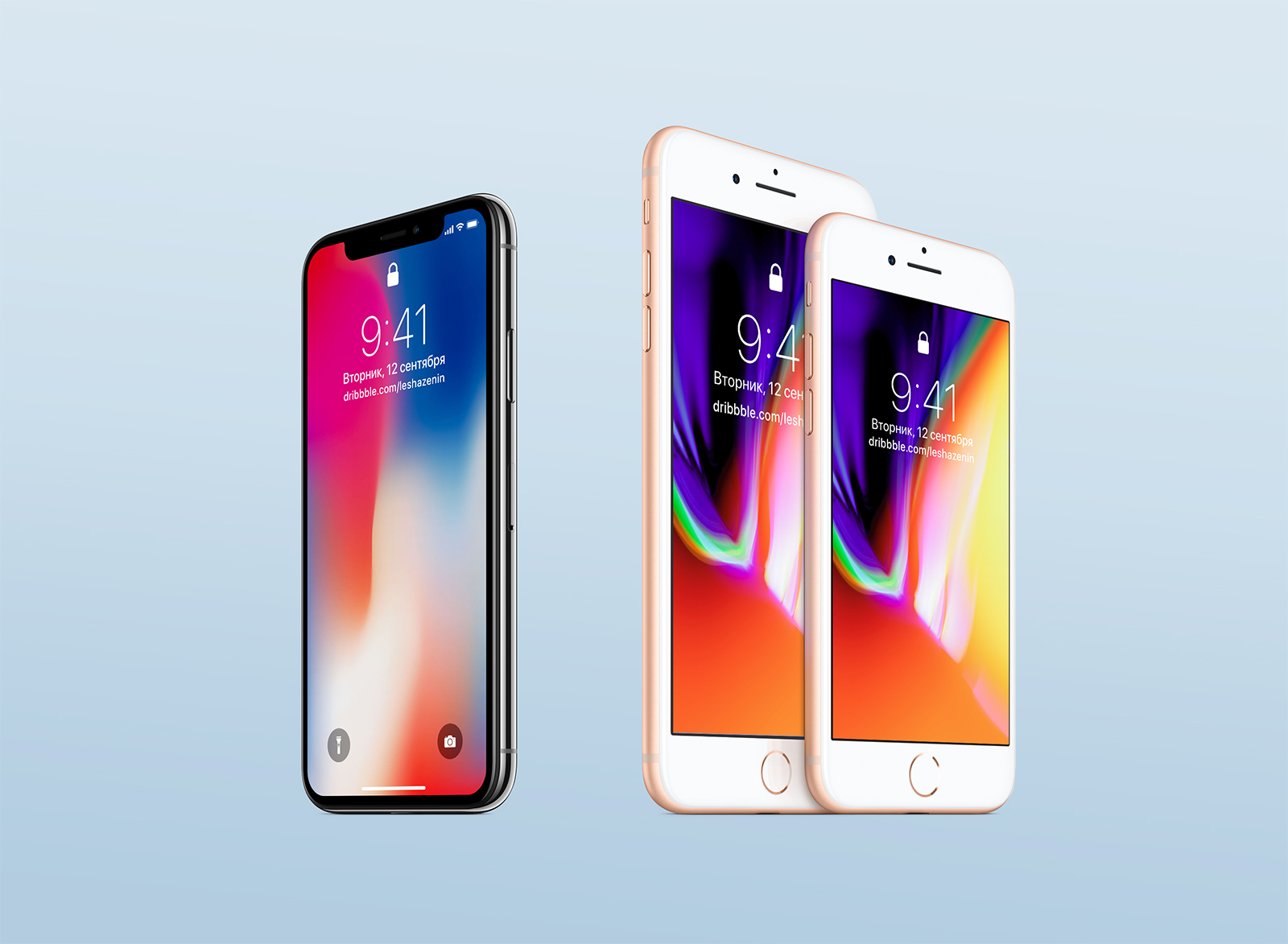 iPhone 8 and iPhone X Free Mockup