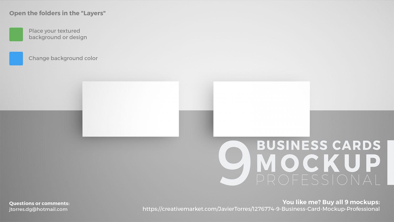 9 Business Card PSD Mockup