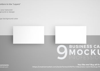 9 Business Card PSD Mockup