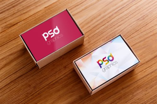 Business Card Box Mockup