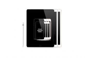 Clean iPad Pro And iPhone 6s Plus Mockup Bundle