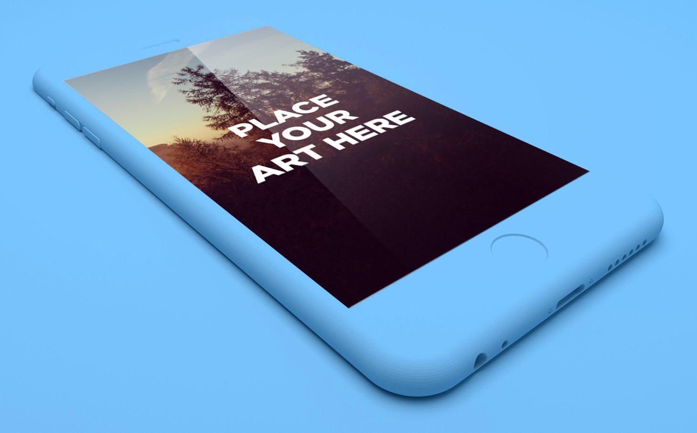 Floating iPhone 6 Plus Mockup