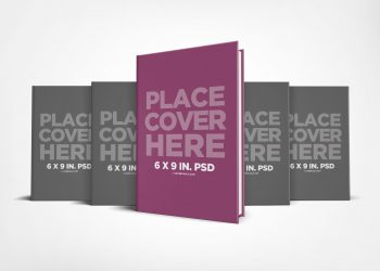 Free Hardcover Book Series Presentation Mockup