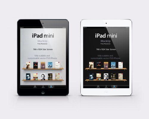 Free PSD Mockup iPad Mini