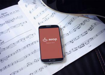 Free Samsung Mockup Musician