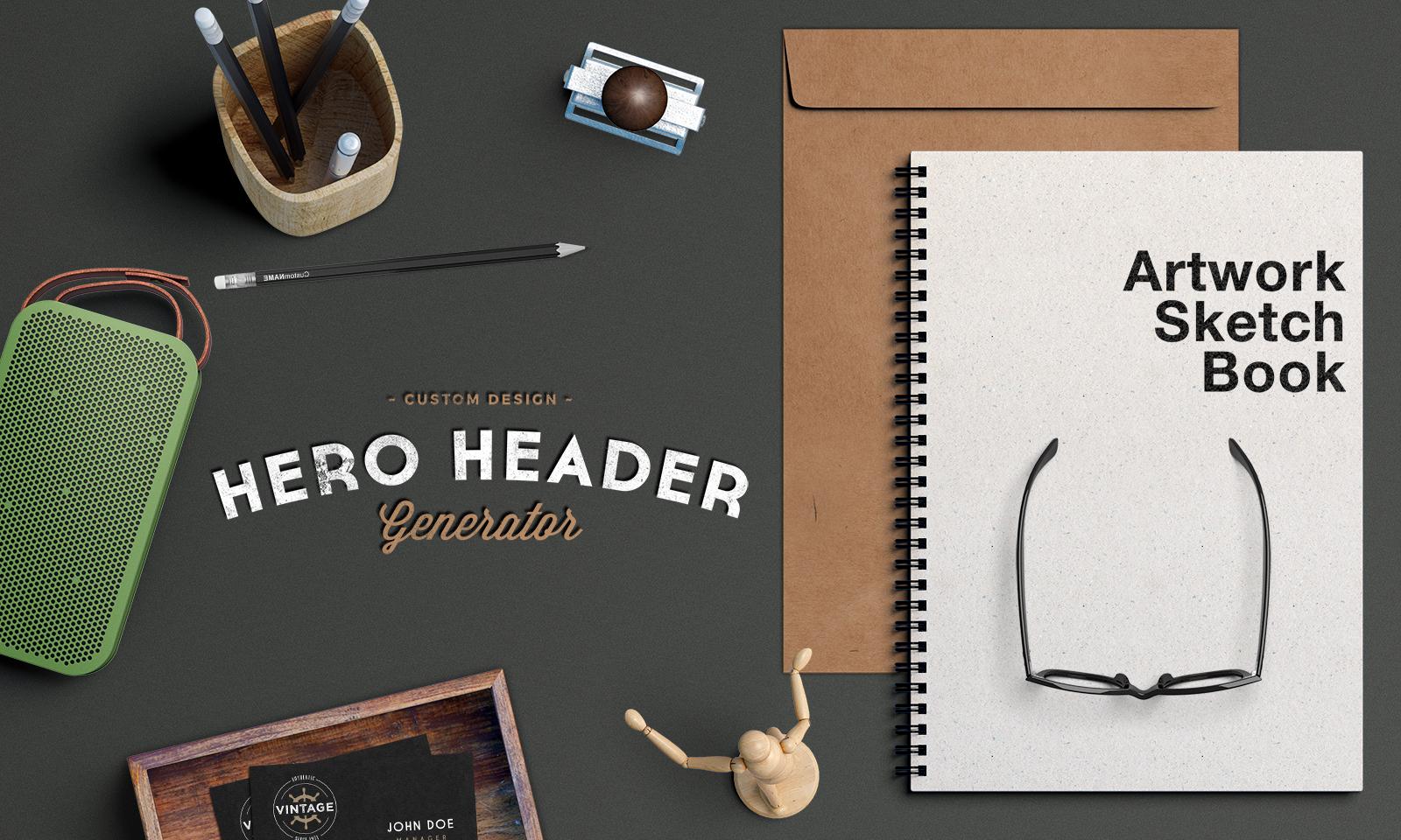Hero Header Scene Mockup #2