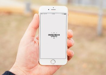 Holding An iPhone Mockup