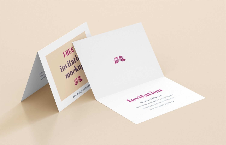 Invitation Business Card Mockup