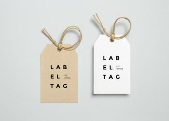 Label Tag PSD Mockup
