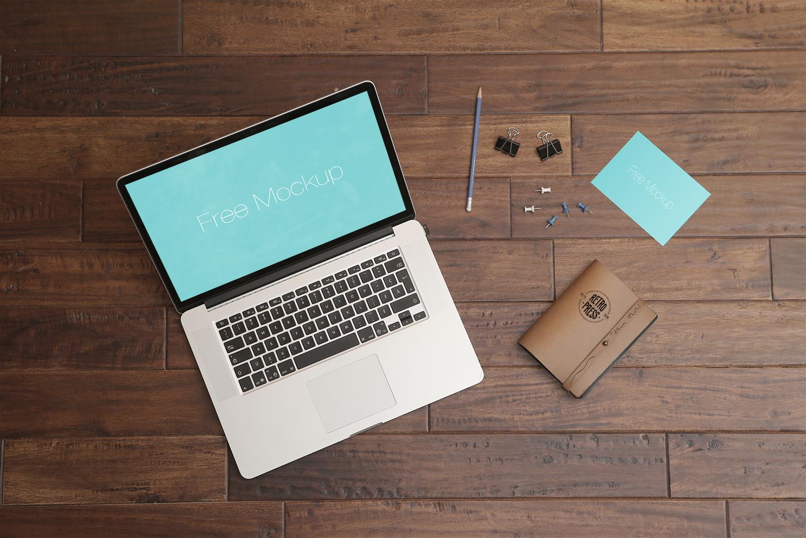 MacBook Pro Wooden Table