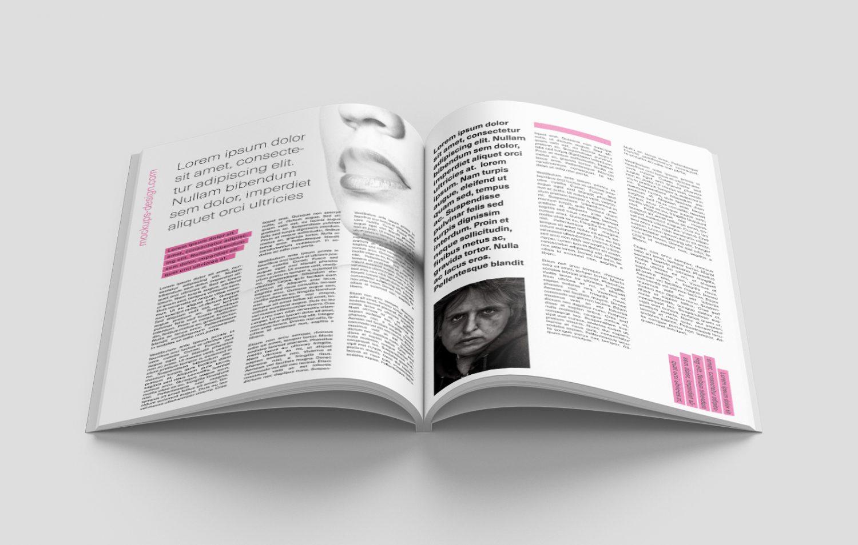 Magazine Mockup Free PSD (7 scenes)