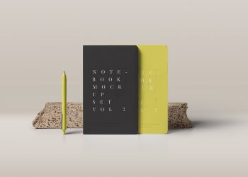 Notebook Mockup PSD #2
