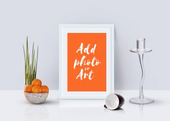 Photo Frame Mockup Scene PSD
