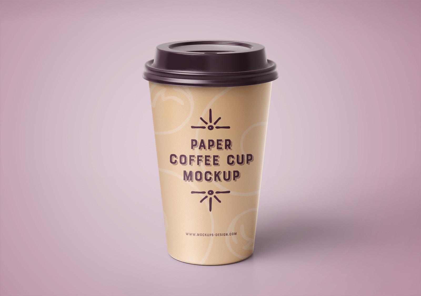 Premium Paper Coffee Cup Mockup PSD Set