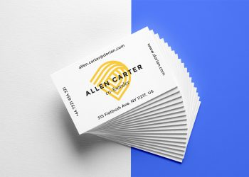 Realistic Business Cards Mockup #6