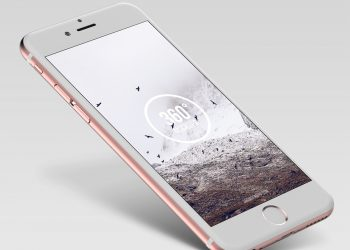 Rose Gold iPhone Mockup