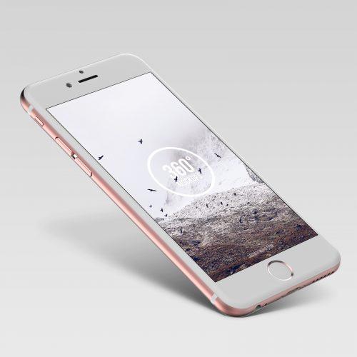 Rose Gold iPhone Mockup