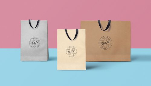 Shopping Bag PSD Mockup #3