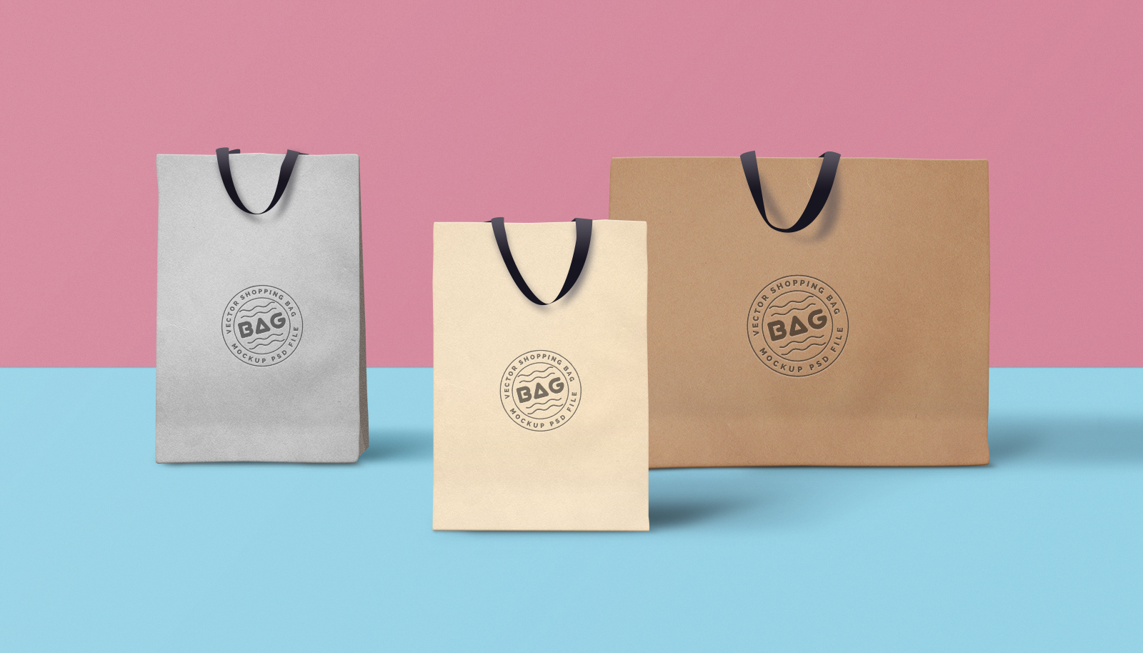 Shopping Bag PSD Mockup #3