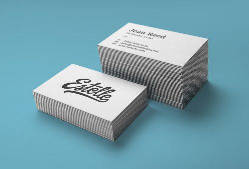 Stack Letterpress Business Cards Mockup