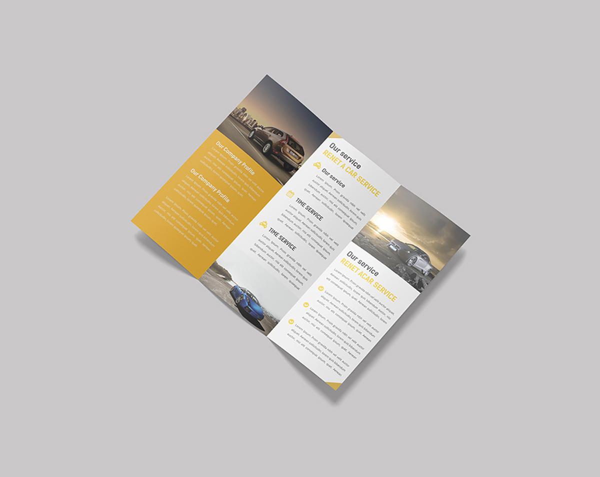 Trifold Brochure Mockup PSD