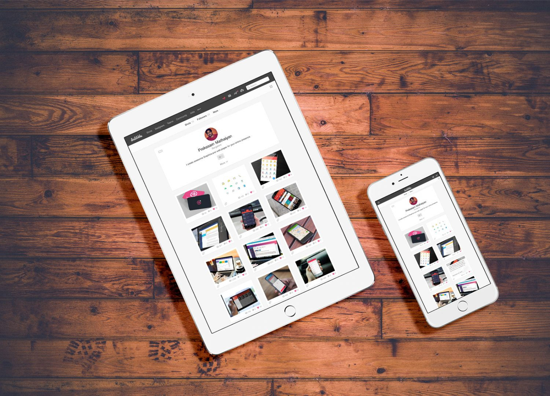 White iPad And iPhone On Floor Mockup