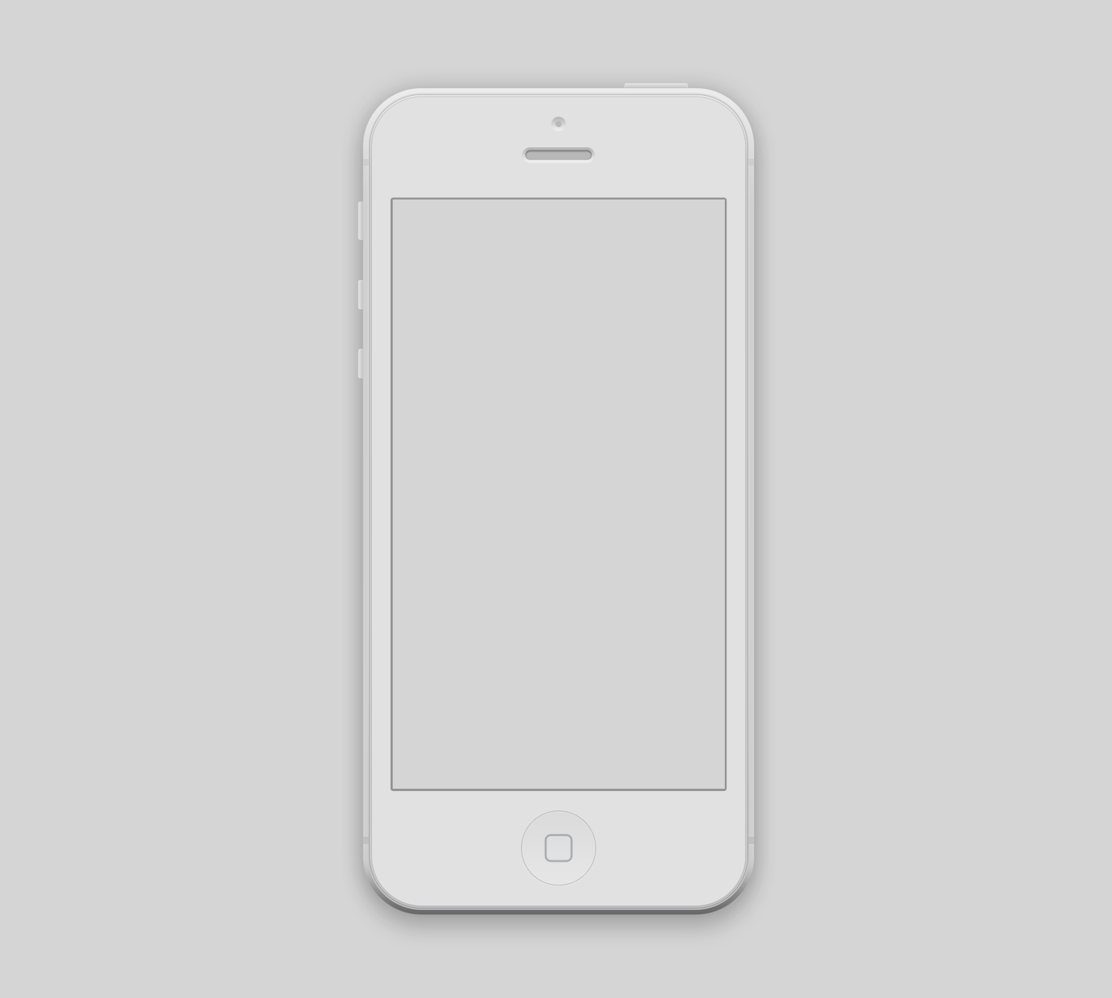 iPhone 5 White PSD Mockup
