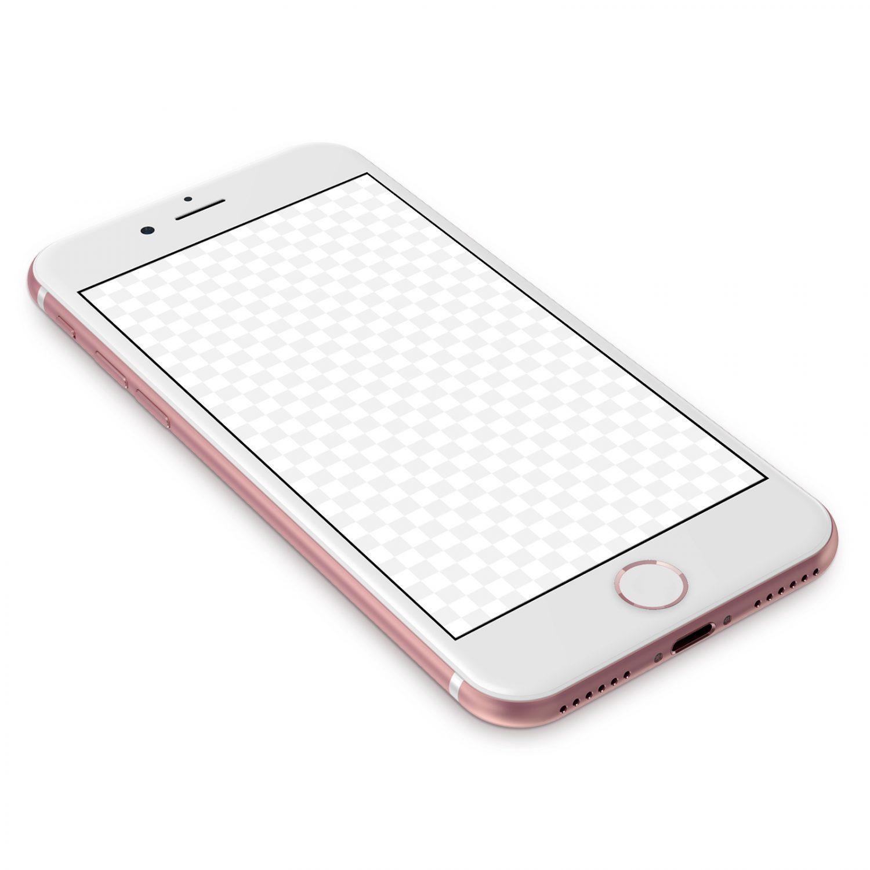 iPhone 7 Rose Gold Mockup