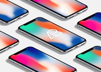 iPhone X Isometric Mockups