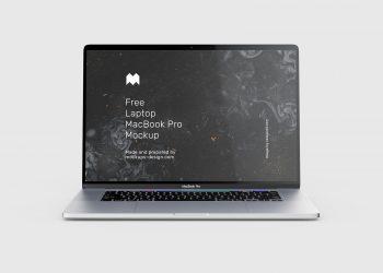 4 Free MacBook Pro mockups PSD
