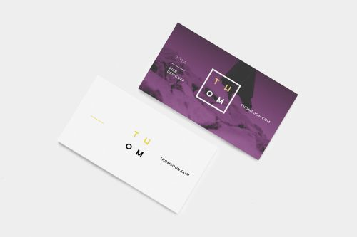 6 Business Cards Mockup