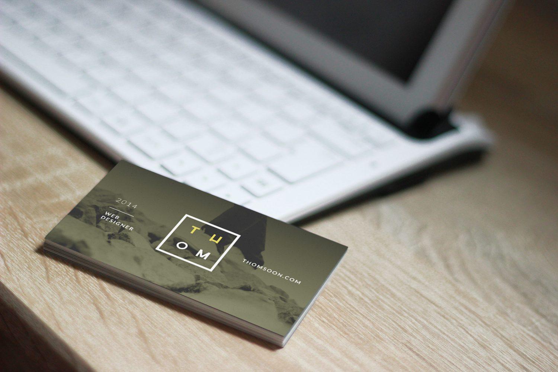6 Business Cards Mockup