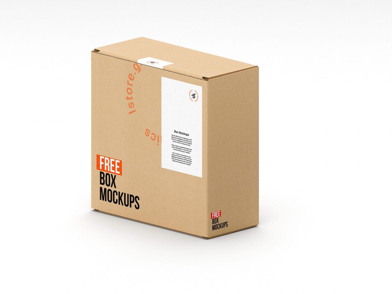 7 Free Box Mockups Photoshop PSD