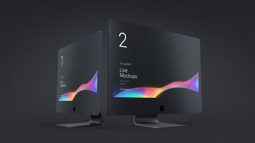 Black Matte Apple Devices Mockup