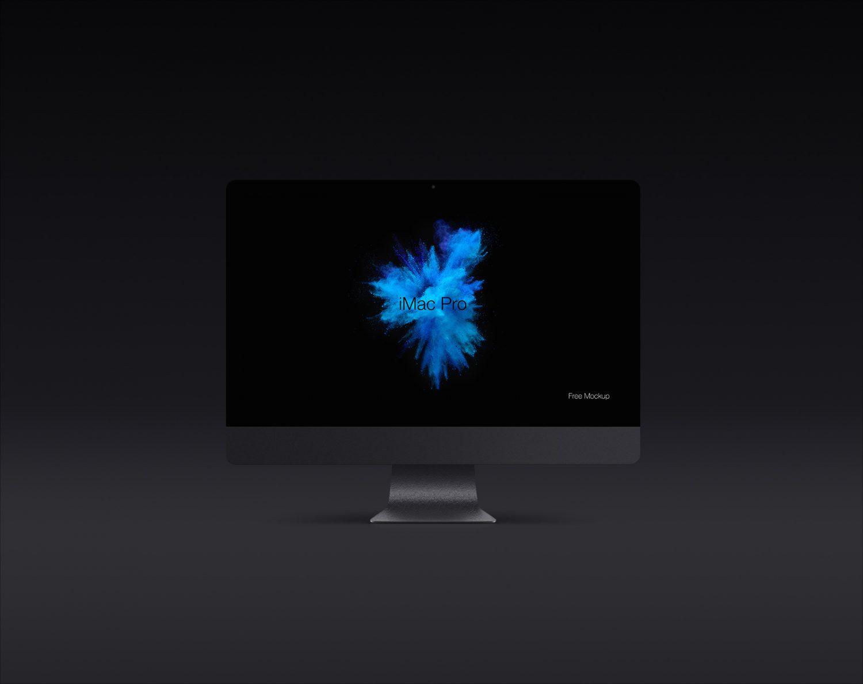 Dark iMac Pro Screen Mockup
