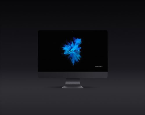Dark iMac Pro Screen Mockup
