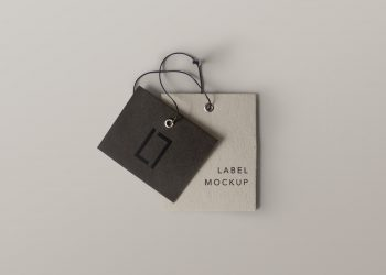 Double Brand Label Mockup PSD