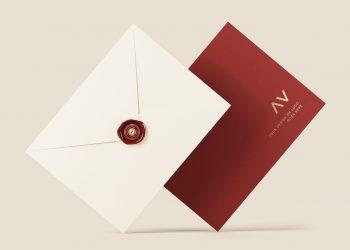 Envelope Logo Mockup PSD