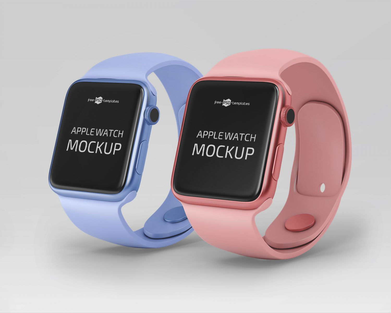 Free Apple Watch Mockups PSD
