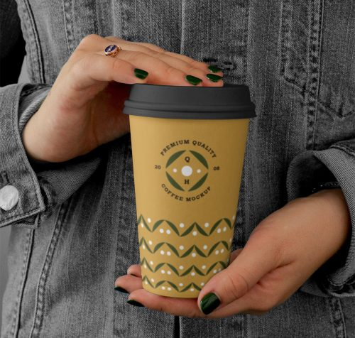 Free Big Coffee Cup Mockup