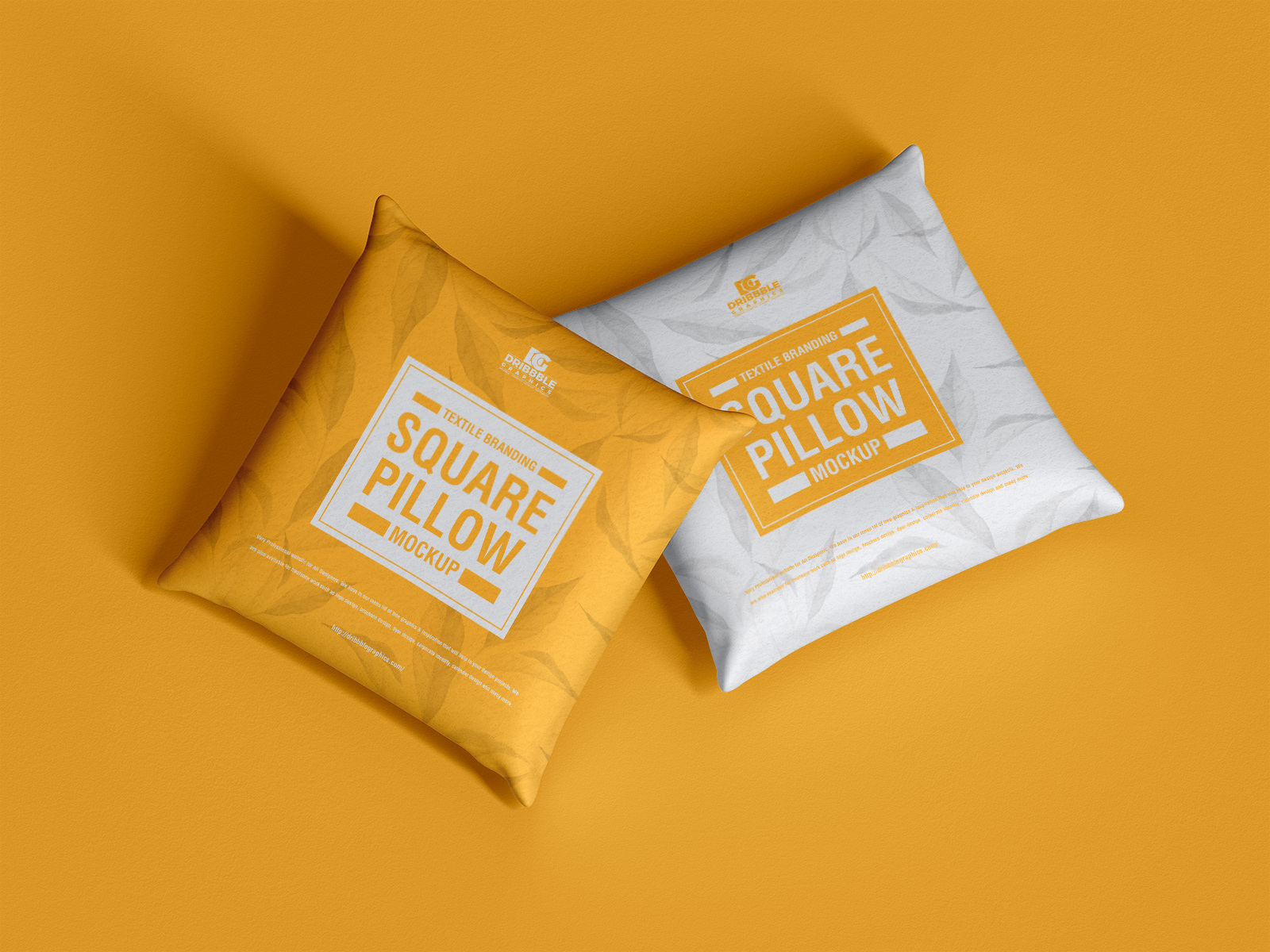 Free Branding Square Pillow Mockup PSD