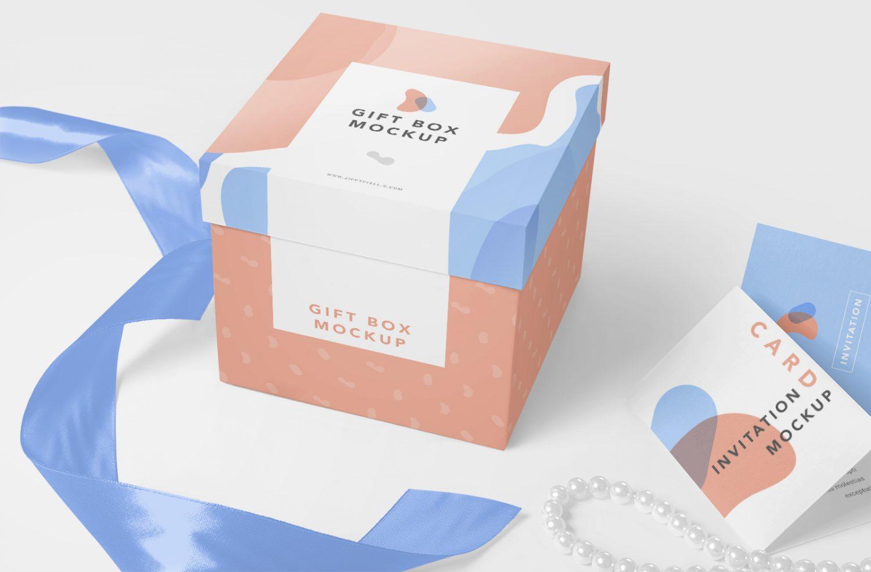 Free Luxury Gift Mockup PSD