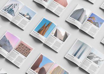 Free Magazine Set Mockup PSD