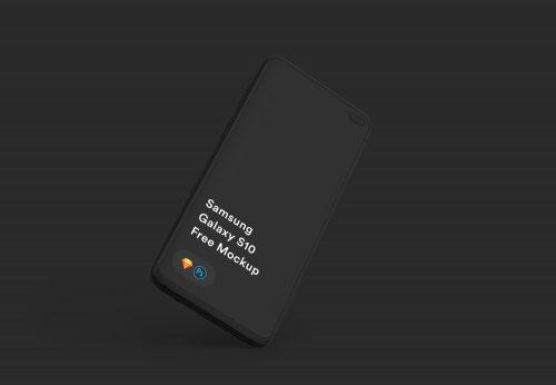 Free Samsung Galaxy S10+ Mockup PSD