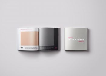 Free Square Magazine Mockup PSD