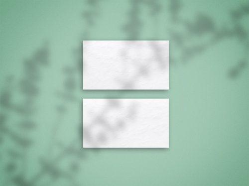 Free Top Shadow Overlay Business Card Mockup PSD