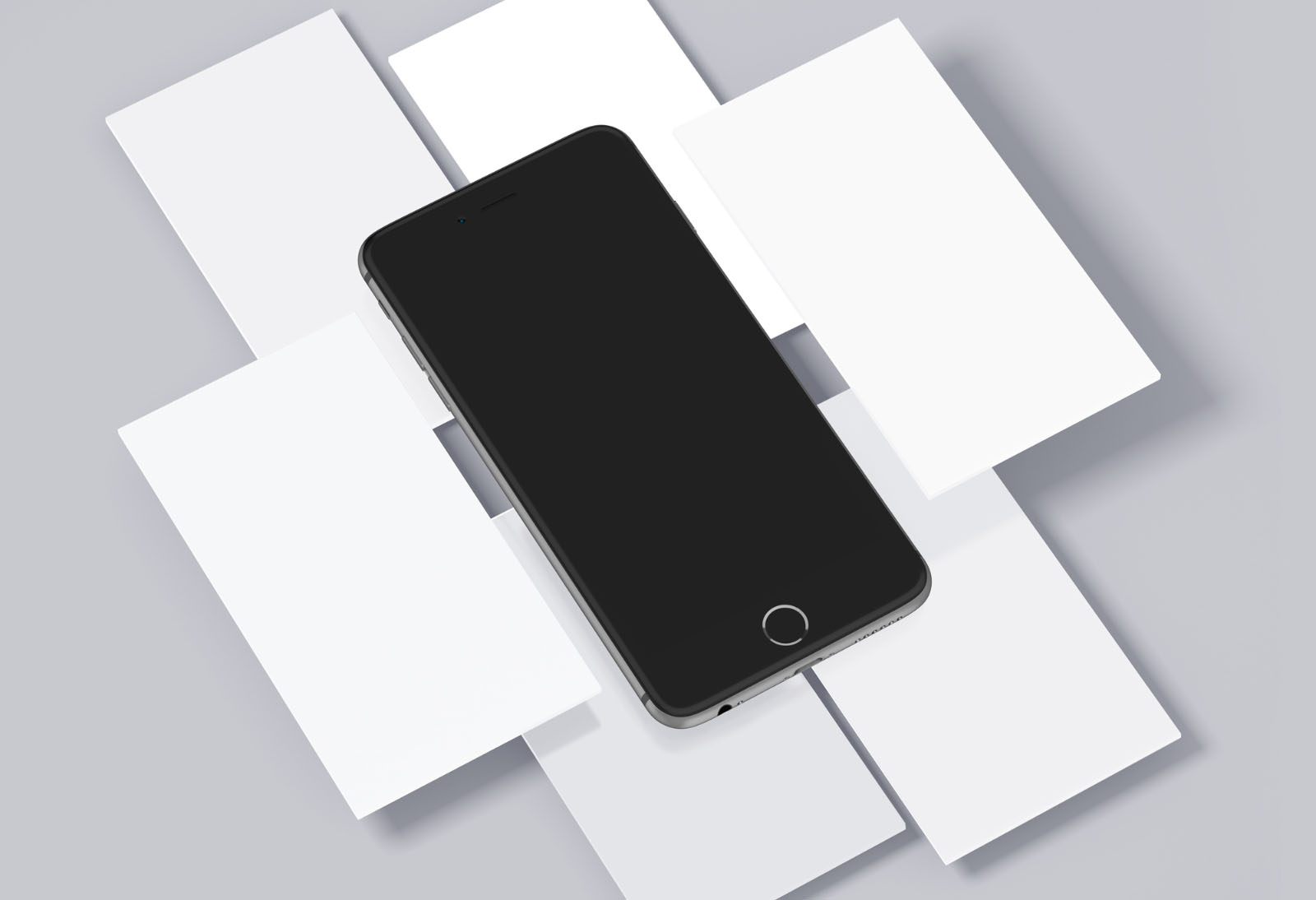 Free iPhone & Mobile Screens Mockups PSD